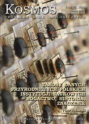 Pokaż  Tom 70 Nr 2 (2021): Zasoby danych przyrodniczych polskich instytucji naukowych – bogactwo, historia, znaczenie